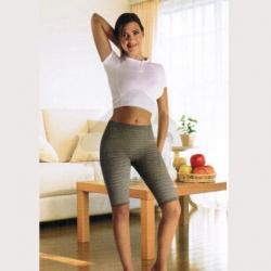 Calção anti celulite cintura baixa