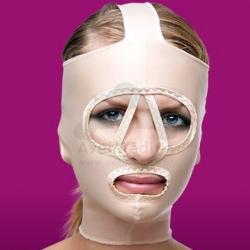 Máscara compressiva facial face completa