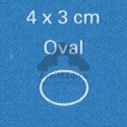 Placa de silicone oval (emb 4un)
