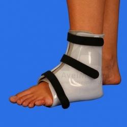 Ortótese imobilizadora do tornozelo em polietileno