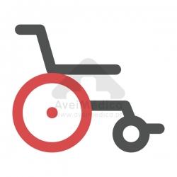 Roda dianteira para cadeira de rodas
