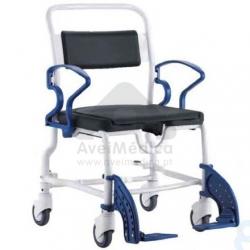 Cadeira de rodas sanitária com assento ferradura
