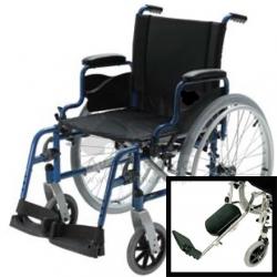 Cadeira de rodas com patins elevatórios