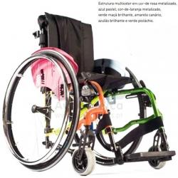 Cadeira de rodas manual autopropulsável pediátrica
