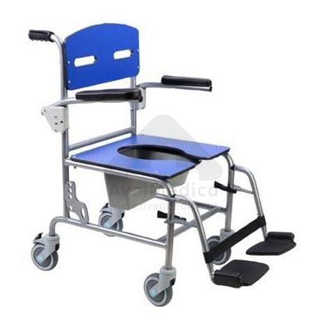 Cadeira banho e sanitária Inox