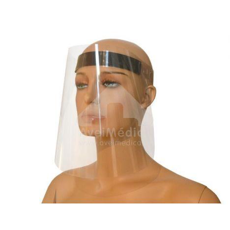 Viseira de Proteção Facial c/ Elástico - Embalagem de 50 unidades