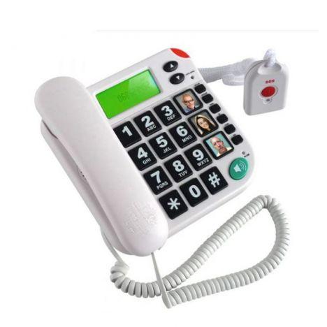 Telefone com comando sem fios SOS