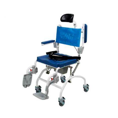 Cadeira de banho e sanitária reclinável