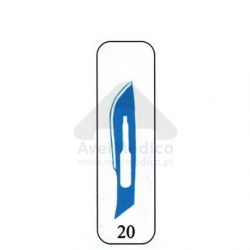 Lâmina Bisturi nº 20 caixa 100 unidades