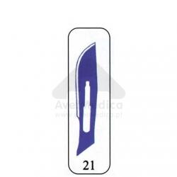 Lâmina Bisturi nº 21 caixa 100 unidades