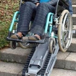 Trepador de escadas para cadeiras de rodas manuais/elétricas