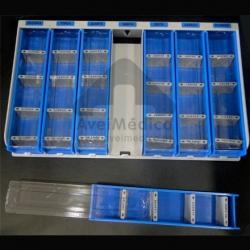 Caixa medicação semanal compartimentos amovíveis