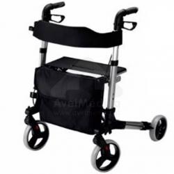 Andarilho de 4 rodas com assento e encosto