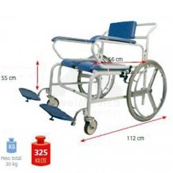 Cadeira duche obesos roda Grande